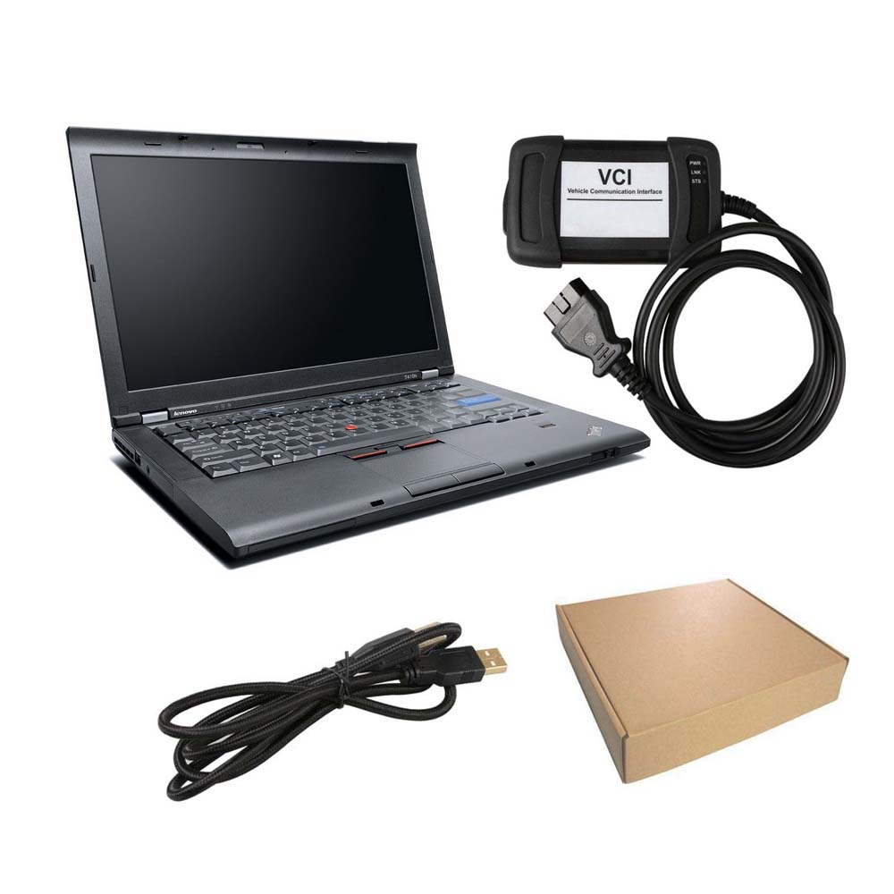 V155 JLR VCI Jaguar and Land Rover Diagnostic Tool with Lenovo T410 Laptop