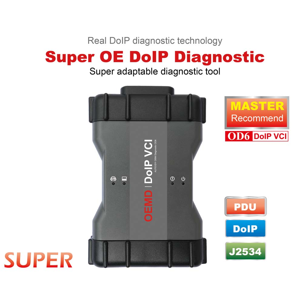 OD6 DoIP VCI Multiple in one J2534/DoIP OE diagnostic tool for Jaguar,rover,BENZ,BMW,VW,HONDA,TOYOTA