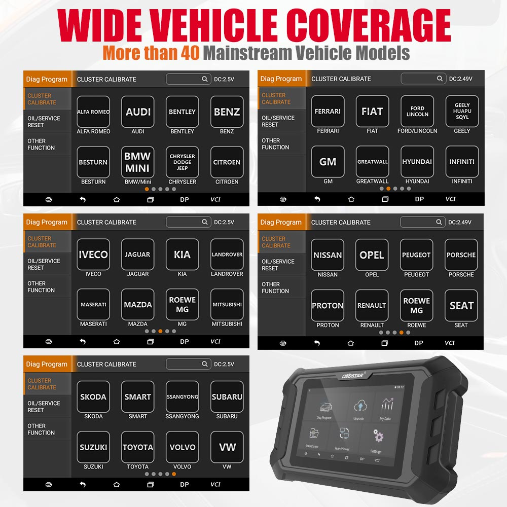 OBDSTAR ODOMASTER Odometer Correction Tool Support Special Functions Work More Vehicles than X300M
