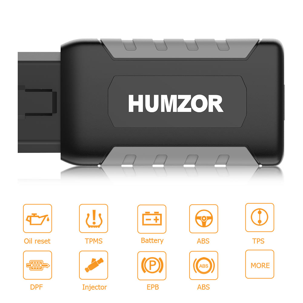 Humzor NexzDAS ND106 Bluetooth Special Functions Resetting Tool work on Android & IOS for ABS, TPMS, Oil Reset, DPF