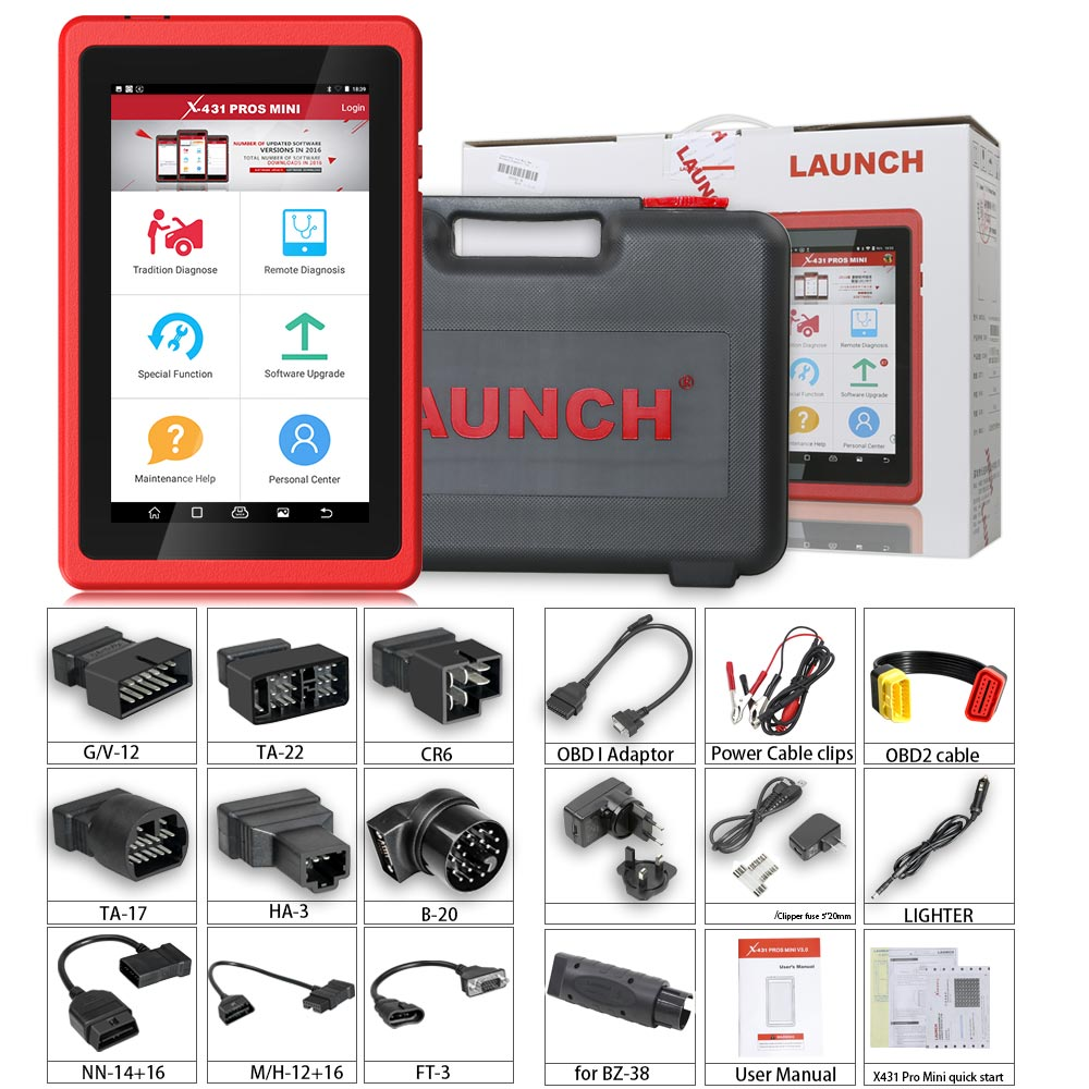 Launch X431 ProS Mini Android Pad Multi-system Multi-brand Diagnostic & Service Tool 2 Years Free Update