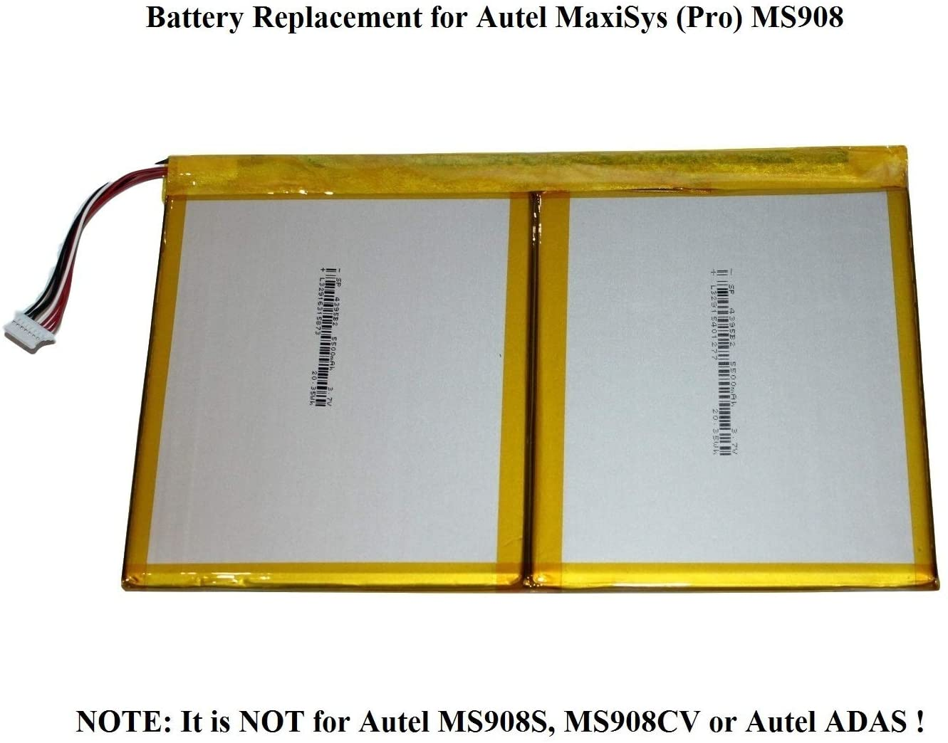 Battery for Autel Maxisys Elite MS908 MS908S PRO MS908CV MS906TS MS906BT TS608 DS808 MX808IM MK808 MP808